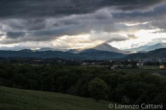Valtaro vista dalle colline sopra Ozzano