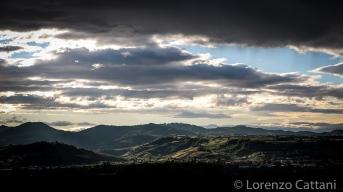 Valtaro vista dalle colline sopra Gaiano