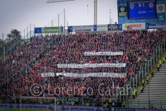 """25/3/2018 - Parma-Foggia 3-1 (NESSUN BUROCRATE """"GIOCA"""" CON I NOSTRI SENTIMENTI - SAREMO VIGILI E PRETENDIAMO RISPETTO)"""