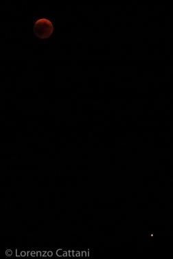 Eclissi totale di Luna (totalità massima) e Marte - 27-7-2018