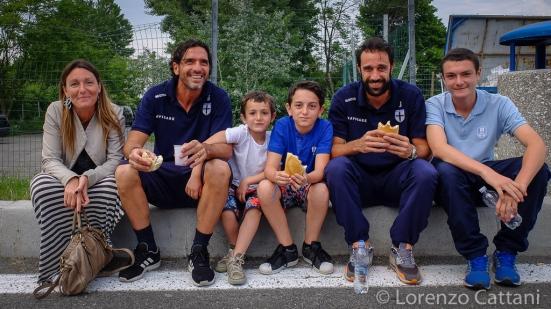 8/5/2016 - Sammaurese - Parma 0-2. Cacioli fa merenda insieme alla famiglia Lucarelli.