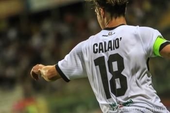 31/5/2017 - Parma - Lucchese 2-1. Emanuele Calaiò esulta dopo il gol.