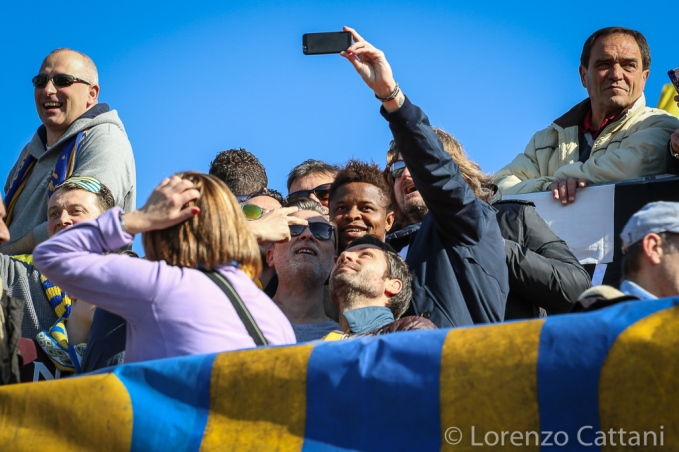 21/2/2016 - Forlì - Parma 0-0. Baraye sconta il turno di squalifica tra i Boys.