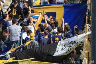 3/4/2016 - Parma - San Marino 1-1. Lucarelli assiste alla partita in Curva Nord.