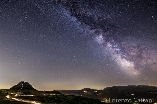 Via Lattea sulla Pietra Parcellara (Val Trebbia)
