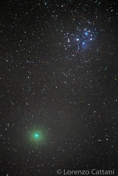 Cometa 46P/Wirtanen e le Pleiadi