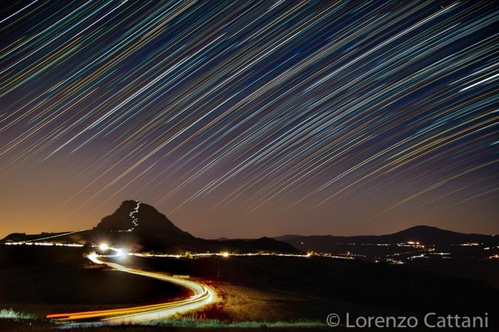 Star Trails sulla Pietra Parcellara (Val Trebbia)