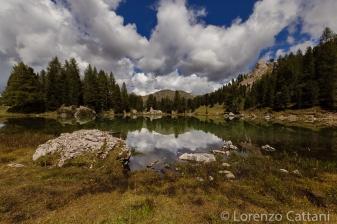 Lago Lagusel in Valle San Nicolò