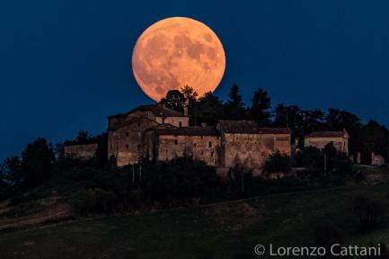 Luna sulla Torre del Boriano