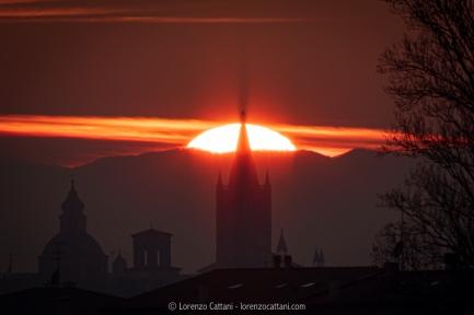Il Sole tramonta dietro l'Angiol d'Or